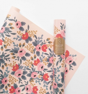 [Rifle Paper Co.] Blushing Rosa Wrapping Sheets [3 sheets]