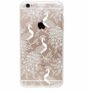 [Rifle Paper Co.] Clear Peacock iPhone Case (iPhone 6+ Only)