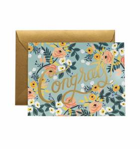 [Rifle Paper Co.] Blue Meadow Congrats Card