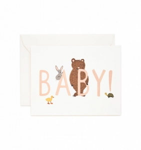 [Rifle Paper Co.] Baby! [Peach] Card