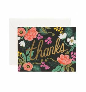 [Rifle Paper Co.] Birch Floral Thank You Card