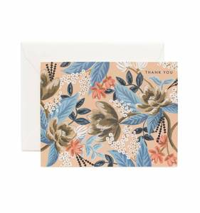 [Rifle Paper Co.] Blue Floral Thank You Card