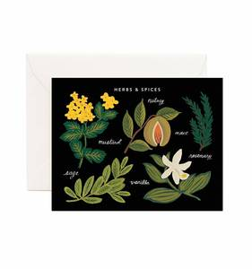 [Rifle Paper Co.] Herbs & Spices Chart Card