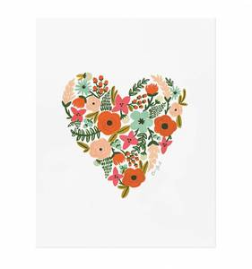 [Rifle Paper Co.] Floral Heart 8 x 10""