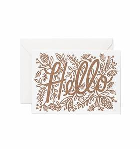 [Rifle Paper Co.] Letterpress Hello Card