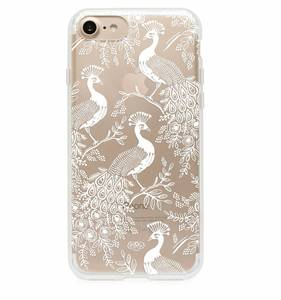 [Rifle Paper Co.] Clear Peacock iPhone Case (iPhone 7, 7+ Only)