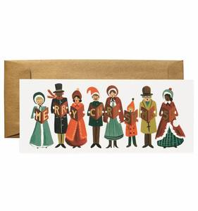 [Rifle Paper Co.] Carolers Christmas No.10 Card