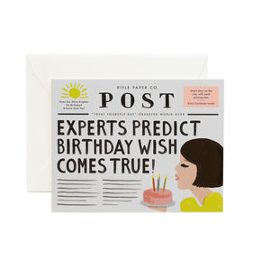 [Rifle Paper Co.] Breaking News Birthday Card