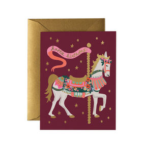 [Rifle Paper Co.] Carousel Birthday Card