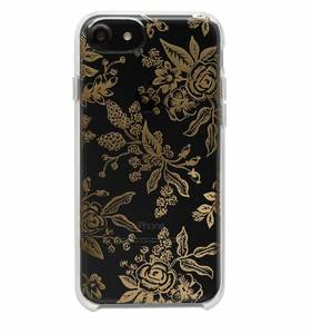 [Rifle Paper Co.] Clear Gold Floral Toile iPhone Case