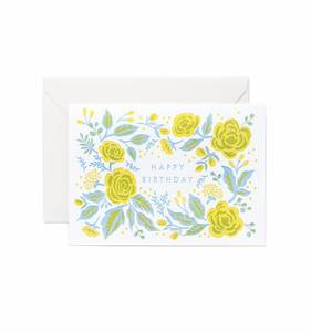 [Rifle Paper Co.] Letterpress Jardin Birthday Card