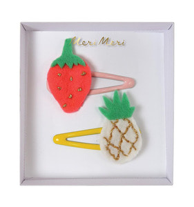 [Meri Meri]Pineapple&Strawberry Hair Clips