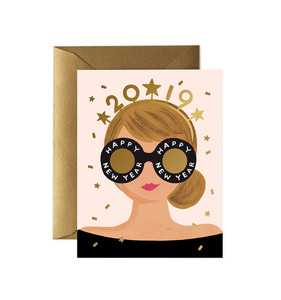 [Rifle Paper Co.] New Years Girl Card