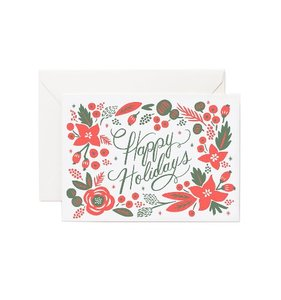 [Rifle Paper Co.] Letterpress Poinsetta Card