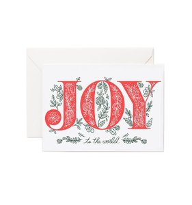[Rifle Paper Co.] Letterpress Joy To The World Card