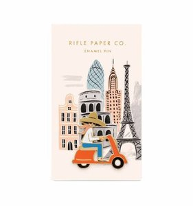 [Rifle Paper Co.] Scooter Girl Enamel Pin