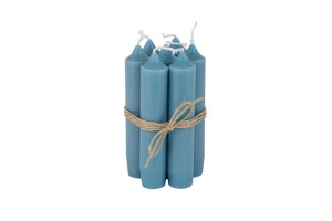 Short Candle Blue Green